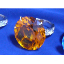 Crystal Hotel Supplies---Crystal Glass Napkin Ring Holder (JD-CJH-003)