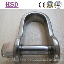Stainless Steel Flat Shackle, Plate Shackle D Type
