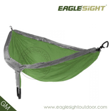 Smart Backpacking with Compressed Double-Sized Parachute Hammock