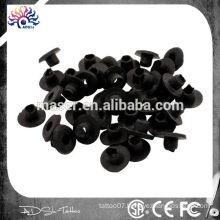 H Rubber Grommet 100pcs Black Tattoo Grommet