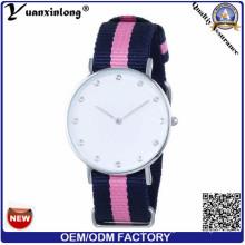 Relógio de nylon da correia de quartzo da forma Yxl-212, relógio de pulso elegante tecido relógio da OTAN das senhoras do esporte da correia da OTAN
