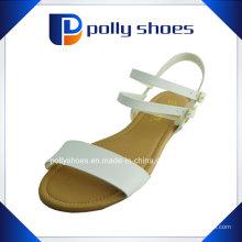 Мода плоские женщины сандалии PU кожа женщин сандал