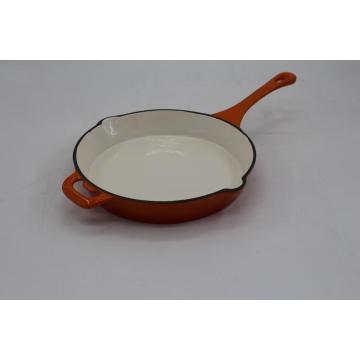 Red Cast Iron Skillet