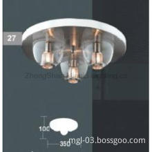 Polished Chrome  Modern Glass Ceiling Lamp for Decoration