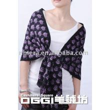 Echarpe en laine mercerisée pour dames, écharpe en crâne, écharpe en laine