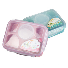 5 Gridmicrowave Safe Food Grade Large Clip Food Container for Kids