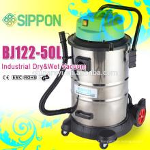 Competitivo tanque de aço inoxidável industrial molhado e seco aspirador de pó BJ122-1200W-60L