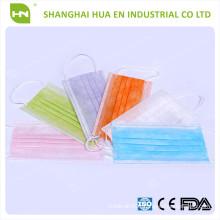 Masque de couleur 3ply 95 BFE fabriqué en Chine
