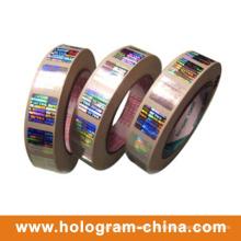 Lámina de estampado en caliente del holograma personalizado del arco iris 3D láser