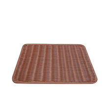 Handmade Poly Rattan Mat / Square Rattan Placemats For Supermarket