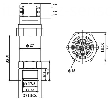 flush diaphgram pressure transmitter