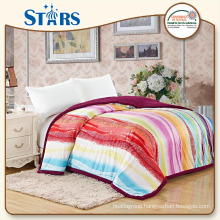 GS-XYFSB001-04 OEKO-TEX flannel sherpa china blanket for bedroom