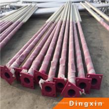 Q235 galvanisierte Metallpfosten für die Beleuchtung, Stahlrunder Polen-Preis für 10m Pole im Freien