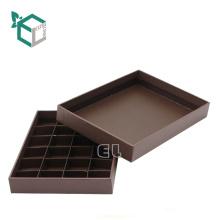 Estampado de oro de alta calidad de empaquetado de chocolate con tapa