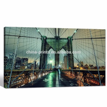 Poster da arquitectura da cidade de New York / arte da parede da ponte de Brooklyn / impressão moderno da fotografia da paisagem