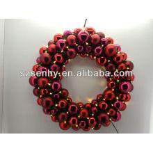 nova modelo de bola de natal coroa de flores