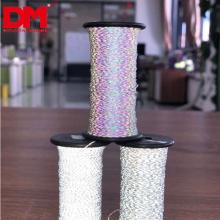 benutzerdefinierte Breite hoch sichtbar Doppelseite silbergrau Lichtreflex Faden weiches retro reflektierendes Stoffgarn zum Stricken