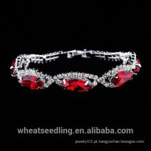 2015 moda cristal de vidro de vidro de quartzo pulseira para as mulheres