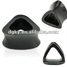 Bouchon d'oreille en acier inoxydable avec boucle d'oreille unique
