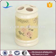 YSb40096-01-th Flora Design Europa Keramik Bad Zahnbürstenhalter