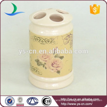 YSb40096-01-th Flora design Europa titular de cepillo de dientes de cerámica