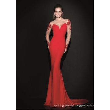 off The Shoulder Long Sleeve Knitted Mermaid Prom Party Cocktail Evening Dress
