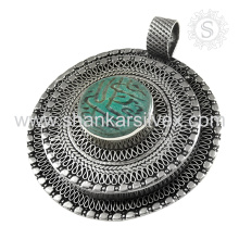 Unique Design 925 Sterling Silver Afghan Stone Pendant Wholesaler Handmade Silver Jewelry