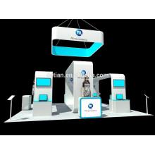 exhibición desmontable de la publicidad de la cabina de la isla del perfil de aluminio de encargo de Shangai para el equipo de la exposición