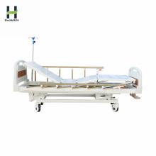 Lit de malade manuel pratique médical à trois fonctions de l'hôpital