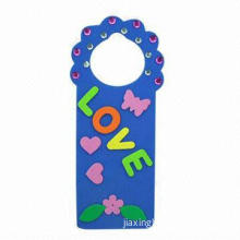 Exquisite EVA foam door hanger with diamonds, Ideal for gifts