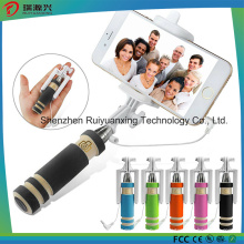 Super Mini Handheld Selfie Stick para iPhone Samsung-Negro