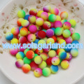 6MM & 8MM Acrylic Plastic Spacer Beads Two Tone Rainbow Beads