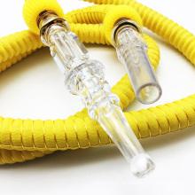 1.5 м резиновые Пластиковые шиша кальян шланг с стеклянным Мундштуком (ЭС-ДХ-001-1)