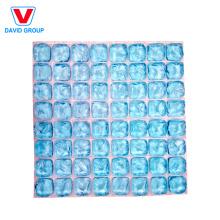 Feuille de glace coupée par 3D de 64 cellules / tapis de glace flexible / paquet de glace réutilisable de gel