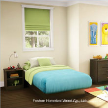 3 Piece Kids Chocolate Bedroom Furniture Bed and Dresser Set