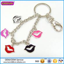 Llavero de la joyería de moda de los nuevos productos, llavero rojo de los encantos de los clips # 15538