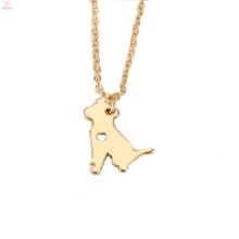 Personalisierte Gold Tier Haustier Hund Halskette Anhänger