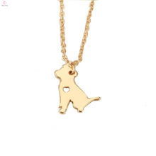 Personalized Gold Animal Pet Dog Necklace Pendant