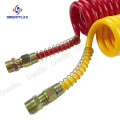Colorful air conveying PU coil hose pipe