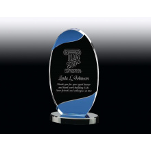 Oval crystal award