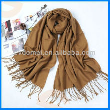 Fashion solid color plain wool scarf