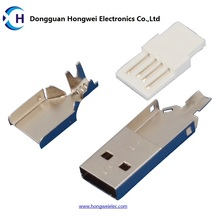Male Solder Three - Piece Anzüge USB 2.0 Steckverbinder