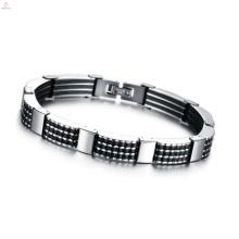 Langes Kettenarmband der Art und Weise, silbernes Armband säubernd