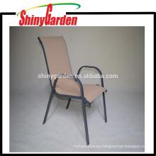 Venta caliente marco de acero comercial interior / exterior restaurante pila apilable silla
