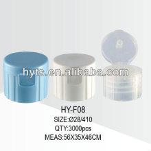 Recipientes de plástico 28/410 flip top cap