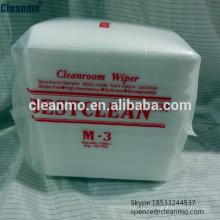 Производитель дешевые 25х25 см чистой комнаты чистки nonwoven стеклоочистители/салфетки м3