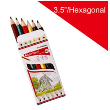 Wood Color Pencil with Hexagonal Barrel