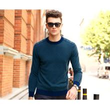 Men′s Cashmere Sweater Round Neck 16brdm008-2