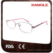 La ligne de base économique la plus économique des cadres optiques en métal de Lady / lunettes en métal