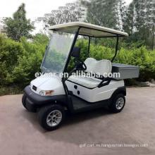Camión de golf pequeño de 2 plazas aprobado por la CE con una carretilla eléctrica para coche con carrito de carga